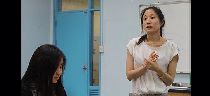 Substitute teacher shares global experience