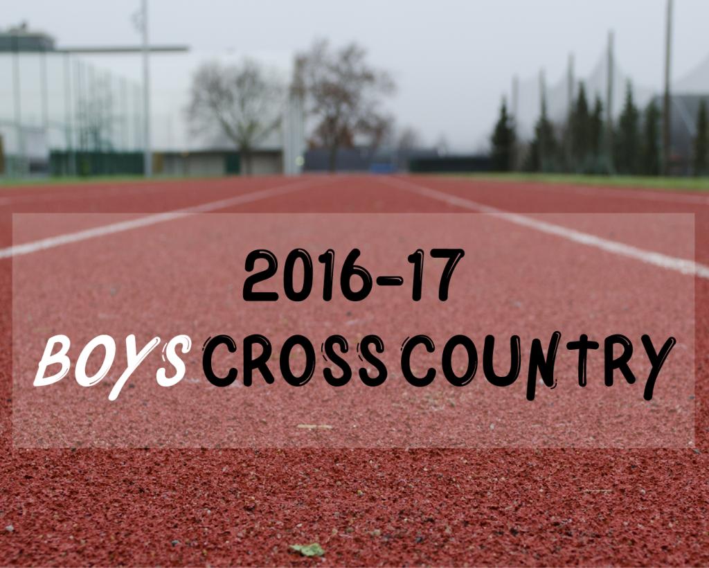 Meet Your Varsity Boys XCountry Team 16-17