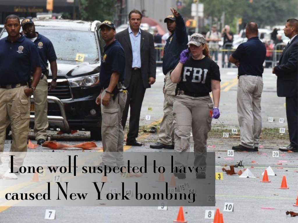 Lone wolf suspected to have caused New York bombing
