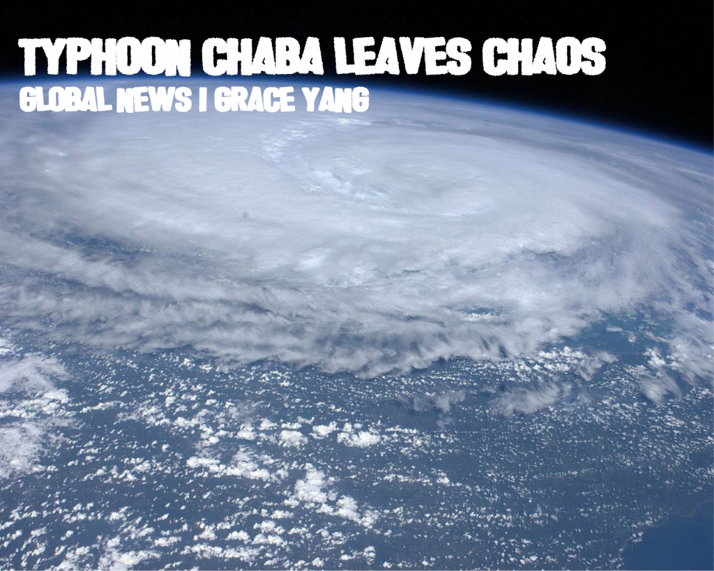 Typhoon Chaba leaves chaos in its wake