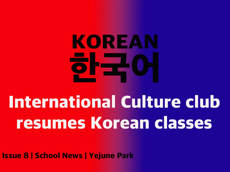 International Culture Club resumes Korean Classes