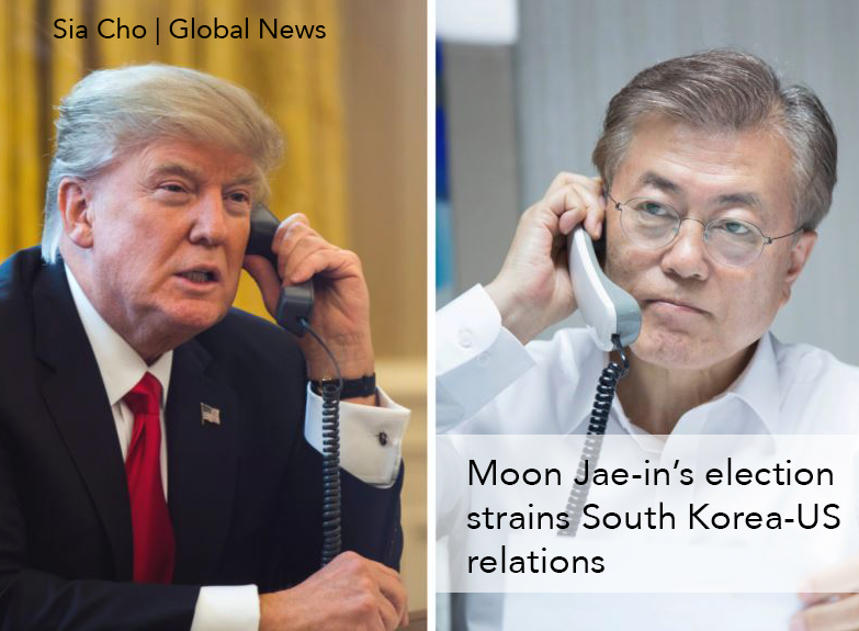 Moon Jae-in's election strains South Korea-US relations