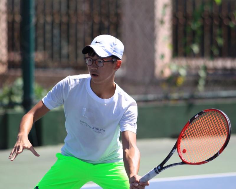 Senior athlete takes tennis to another level