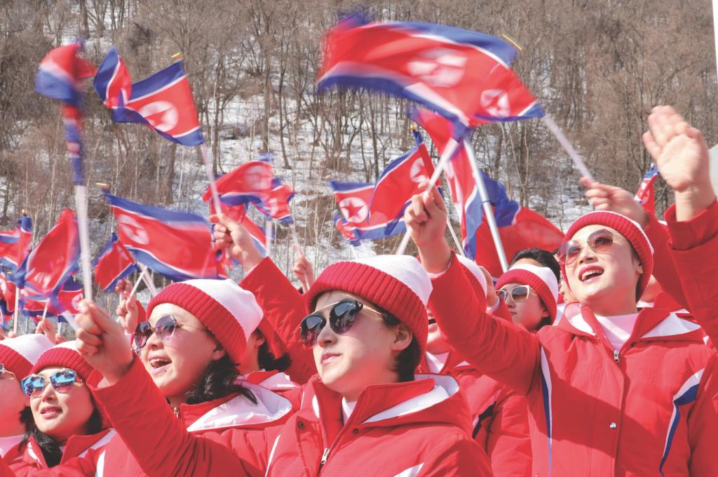 North Korea brings cheerleading team