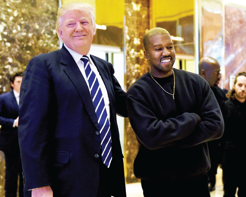 Kanye drifts West from politics