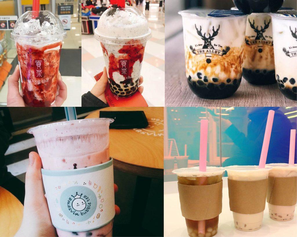 Comparing bubble tea brands in Korea