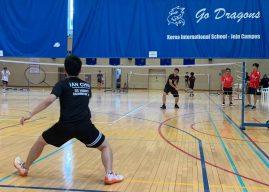 Athletes compete in badminton invitational tournament at KIS Jeju