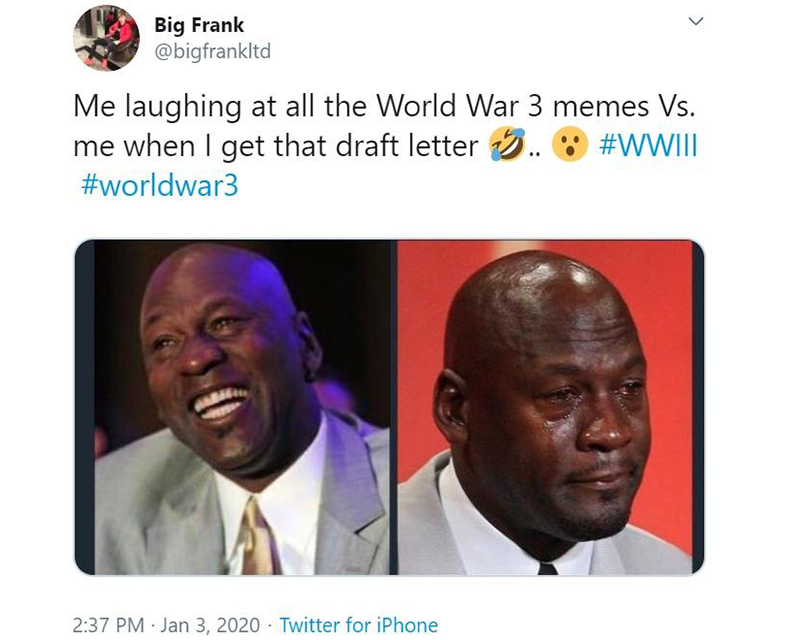 New decade is fueled with World War 3 memes