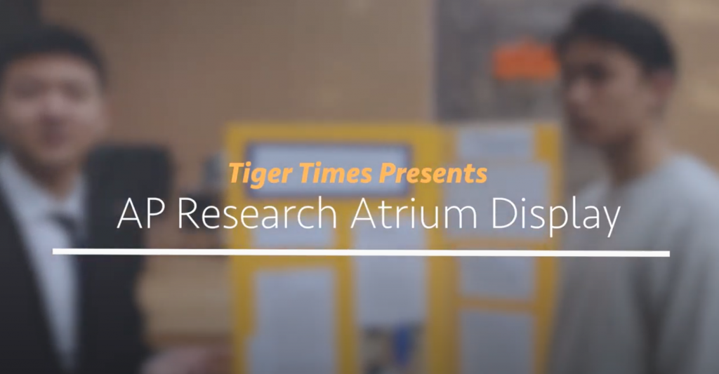 AP Research classes host annual atrium display