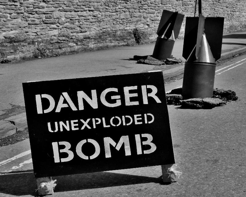 Unexploded WW2 bombs threaten civilian safety